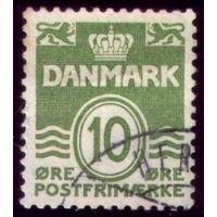 1 марка 1921 год Дания 120