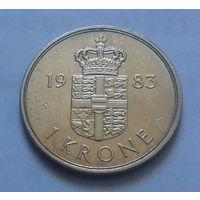 1 крона, Дания 1983 г.