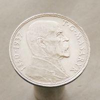 Чехословакия 20 крон 1937 На смерть президента Масарика.