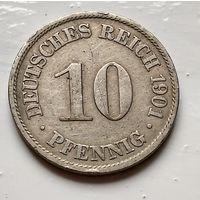 Германия 10 пфеннигов, 1901 A - Берлин 2-1-31