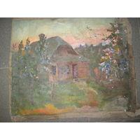 Картина довоенная холст,масло Н/Х Р-р 60х50 см.