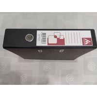 Папка-регистратор Бюрократ, черный мрамор, А4, 70 мм, металлический уголок, РОССИЯ.