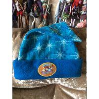 Фирменная шапочка конус со снежинками
