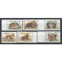 Казахстан - 1993 Фауна серия 6м **