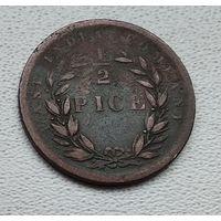 Индия - Британская 1/2 пайса, 1853 6-3-60