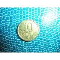 10 центов 2007 Литва
