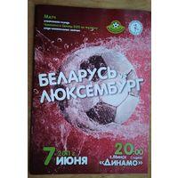 Программа отборочного матча ЧЕ 2012 по футболу. Беларусь - Люксембург