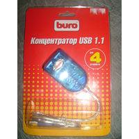 USB хаб BURO 1.1