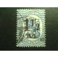 Финляндия 1921 стандарт надпечатка