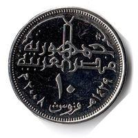 Египет. 10 пиастров. 2008 г.
