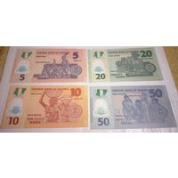 Нигерия комплект банкнот UNC