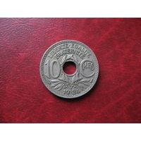 10 сантимов 1934 год Франция