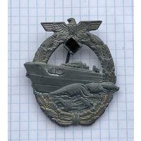 Знак немецкий Член команды торпедного катера 3 рейх имеется клеймо производителя (R.S) ОРИГИНАЛ РЕДКИЙ отличный