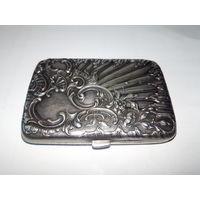 """Портсигар женский """"Барокко"""""""" Европа 19 век.800 проба серебра.Отличный подарок!!"""