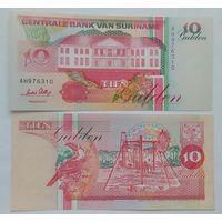 Суринам 10 гульденов 1996 года UNC