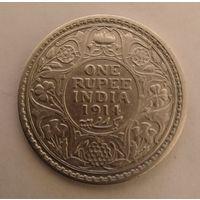 Британская Индия 1 рупия 1914г. 917пр.,серебра.11,49 г