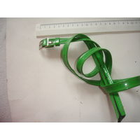 Бабушкин Ремень зеленый кожзам 80-е гг СССР ширина 1,5 см, дл. 95 см