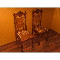 Старинные стулья из дуба пара 2