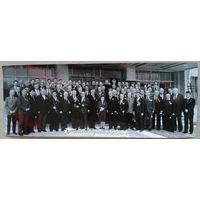 Фото участников собрания ветеранов ВОВ, ВС и труда НИИ ЭВМ.1988 г. 11х29 см.