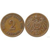 YS: Германия, Рейх, 2 пфеннига 1905F, KM# 16 (2)