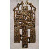 Крест с эмалями. ХVIIIв. 116х257 мм.