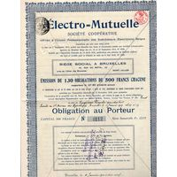 Electro = Mutuelle, Бельгия, 1913 г.