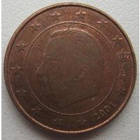 Бельгия 1 евроцент 2001 г.