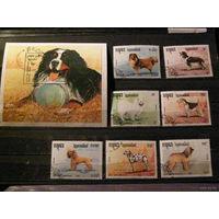 Камбоджа 1990 фауна Собаки