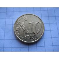 ГРЕЦИЯ 10 ЕВРОЦЕНТОВ 2002 ГОД