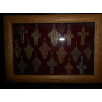 Пано  старинные крестики 17-19 в