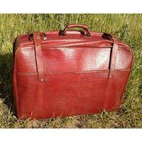 Большой кожаный чемодан -  гармошка.