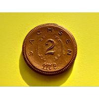 Германия, Саксония (Sachsen), нотгельд из фарфора, 2 марки 1921.