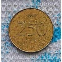 Ливан 250 ливров 2000 года с голограммой. Ливанский Кедр - символ Ливана.