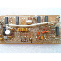 Плата с микросхемами ассорти К176ИЕ12 К176ИЕ13 К176ИД2 и пр.  *2014*