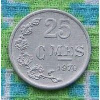 Люксембург 25 центов 1970 года. R. Подписывайтесь! Много новых лотов в продаже!!!