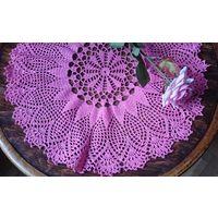 Салфетка розовая для декора