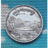"""США. Настольная медаль Железная дорога """"От океана до океана""""."""