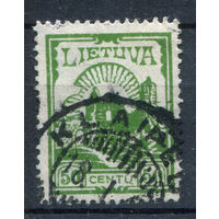 Литва - 1923г. - руины Каунасского замка (50 с) - 1 марка - гашёная (Лот 93М). Без МЦ!
