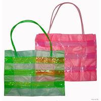 Пляжная сумка, новая, объемная, прозрачная, размеры: длина - 43см, высота - 30см, пр-во Шри-Ланка, цена - 9$ (за каждую).