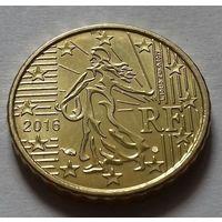 10 евроцентов, Франция 2016 г., AU