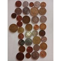 36 монет всего мира без повтора с  1 рубля