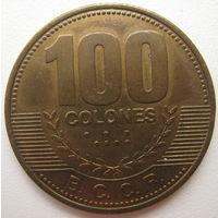 Коста-Рика 100 колон 2007 г. (u)