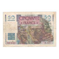 Франция 50 франков 1949 года. Дата 17 февраля. Редкая! Состояние VF!