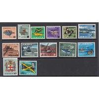 Фауна, флора и др. Ямайка. 1969. Michel N 281-293. Полная серия с надпечатками(16,0 е)