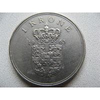 Дания 1 крона 1963 г.
