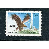 Финляндия. Европейский год охраны природы. Орел