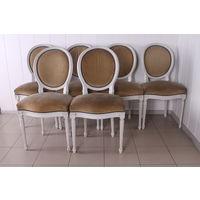 Комплект из 6 старинных стульев.Белые.1920 г