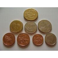 Токелау. набор 8 монет 2017 года: 1,2,5,10,20,50 центов, 1 и 2 доллара UNC
