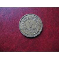 1 франк 1939 год Франция