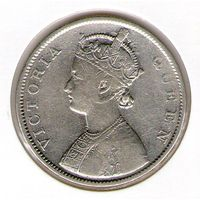 Индия 1 рупия 1862 года.